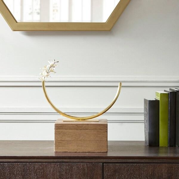Madison Park Signature Hera Brass RoundedTube Vase (Small)