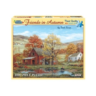 White Mountain Puzzles Friends in Autumn - 1000 Piece Jigsaw Puzzle