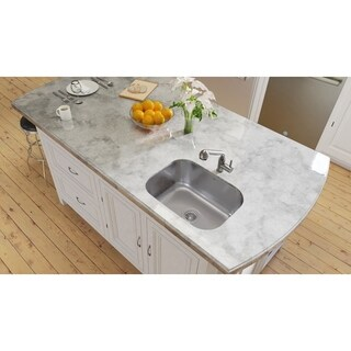 Ancona Under Mount Single 31 in. Sink with Toledo Faucet Combo