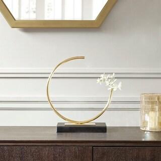 Madison Park Signature Hera Brass RoundedTube Vase (Large)