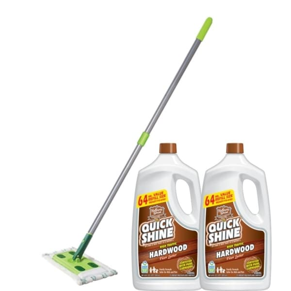 Shop Quick Shine High Traffic Hardwood Floor Luster And Mop Bundle