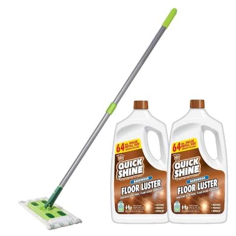 Quick Shine High Traffic Hardwood Floor Luster and Mop Bundle