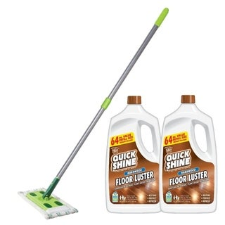 Quick Shine High Traffic Hardwood Floor Luster and Mop Bundle