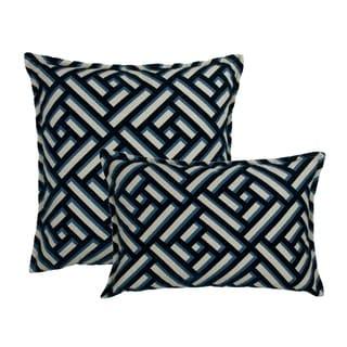 Sherry Kline Brick Blue Combo Decorative pillow