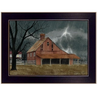 """Dark and Stormy Night"" by Billy Jacobs, Ready to Hang Framed Print, Black Frame"