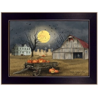 """Spooky Harvest Moon"" by Billy Jacobs, Ready to Hang Framed Print, Black Frame"