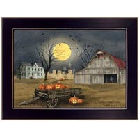 """""""Spooky Harvest Moon"""" by Billy Jacobs, Ready to Hang Framed Print, Black Frame"""