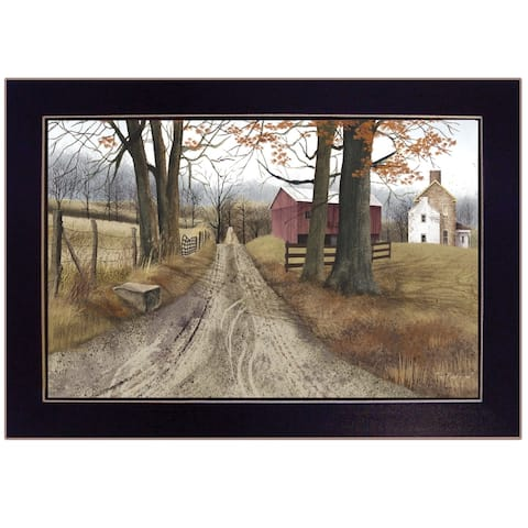 """The Road Home"" by Billy Jacobs, Ready to Hang Framed Print, Black Frame"