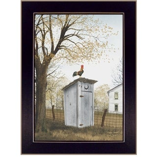 """""""Morning Commute (Outhouse)"""" by Billy Jacobs, Ready to Hang Framed Print, Black Frame"""