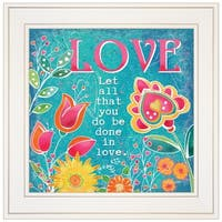 """""""Love"""" by Barb Tourtillotte, Ready to Hang Framed Print, White Frame"""