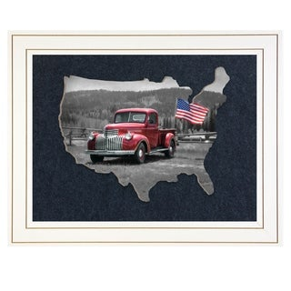 """American Made II"" by Lori Deiter, Ready To Hang 3D Framed Print, Black Frame"