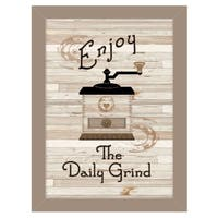 """The Daily Grind"" by Millwork Engineering, Ready to Hang Framed Print, Taupe Frame"