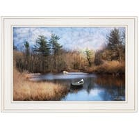 """Riverside"" by Robin-Lee Vieira, Ready to Hang Framed Print, White Frame"