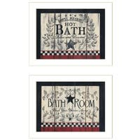 """Hot Bath"" 2-Piece Vignette by Linda Spivey, White Frame"