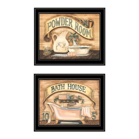 """Bath & Powder Room"" 2-Piece Vignette by Becca Barton, Black Frame"