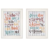 """""""Who You Think"""" 2-Piece Vignette by Susan Ball, White Frame"""