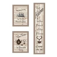 """The Kitchen Collection II"" 3-Piece Vignette, Taupe Frame"