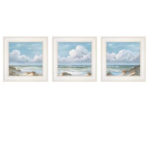 """Beautiful Day I,II, III"" 3-Piece Vignette by Georgia Janisse, White Frame"