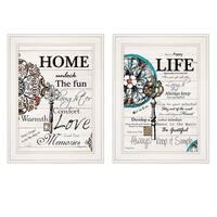"""Life / Home"" 2-Piece Vignette by Robin-Lee Vieira, White Frame"