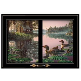 """Northern Tranquility"" by Kim Norlien, Ready to Hang Framed Print, Black Window-Style Frame"