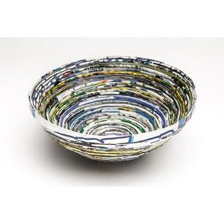 Handmade White Paper Basket-Large (Uganda)