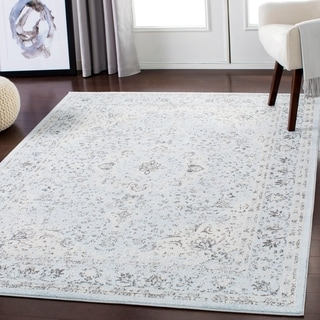 "Lena Light Gray Traditional Area Rug - 5'3"" x 7'3"""