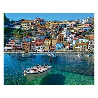 White Mountain Puzzles Greece Parga - 1000 Piece Jigsaw Puzzle