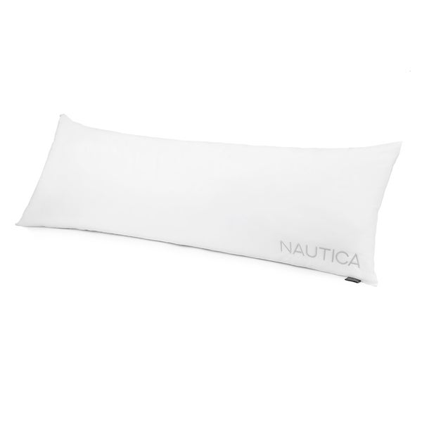 Nautica asthma and allergy friendly Certified 233 Thread Count Cotton Polyester Memory Fiber Body Pillow - White