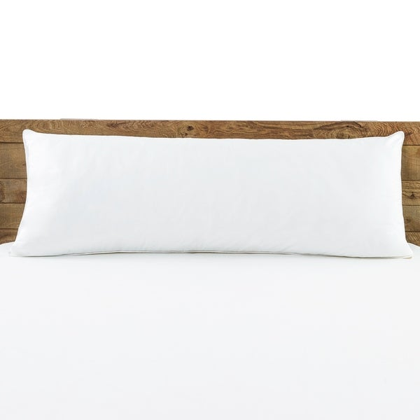 Shop Beautyrest Body Pillow White Free Shipping On
