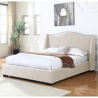 Best Master Furniture 386 Natural Upholstered Panel Bed