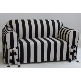 Link to Classic Slipcovers Cabana Stripe One Piece Loveseat Slipcover Similar Items in Slipcovers & Furniture Covers