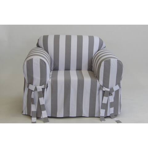 Classic Slipcovers Cabana Stripe One Piece Chair Slipcover
