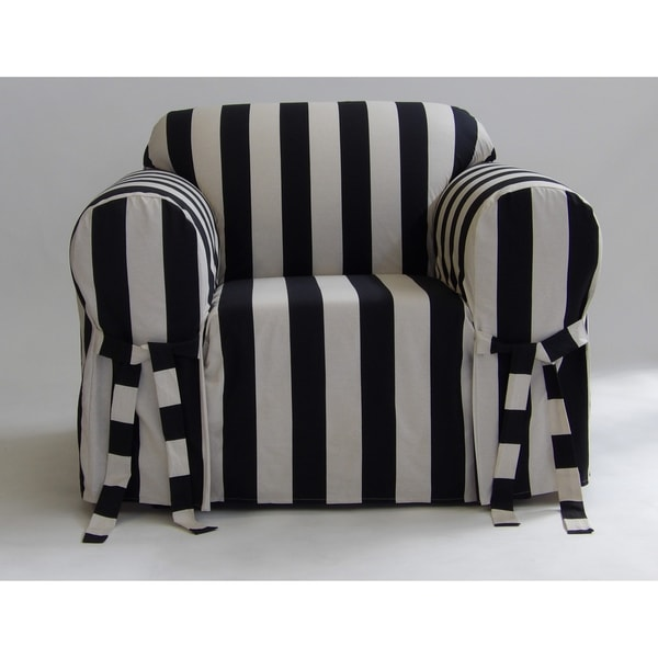 Classic Slipcovers Cabana Stripe One Piece Chair Slipcover. Opens flyout.