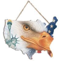 """Freedom"" by Richard Cowdrey, Printed Wall Art on a USA-Shaped Wood"