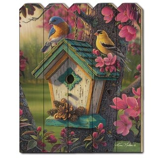 """Springtime Beauty"" by Kim Norlien, Printed Wall Art on a Wood Picket Fence"