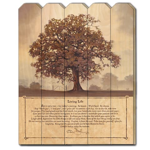 """""""Living Life"""" by Bonnie Mohr, Printed Wall Art on a Wood Picket Fence"""