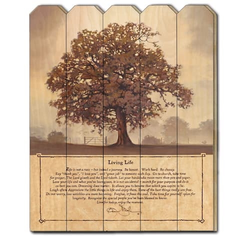 """Living Life"" by Bonnie Mohr, Printed Wall Art on a Wood Picket Fence"
