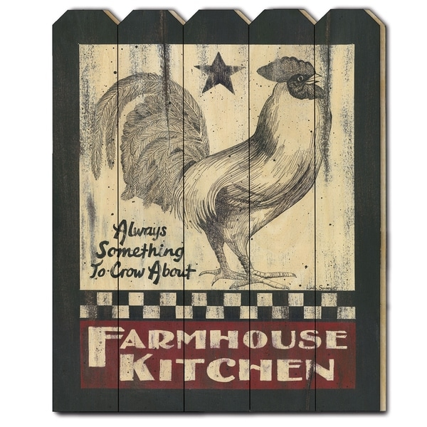 Farmhouse Kitchen By Linda Spivey Printed Wall Art On A Wood Picket Fence