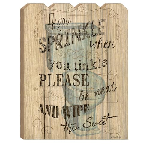 """If You Sprinkle"" by Debbie DeWitt, Printed Wall Art on a Wood Picket Fence"