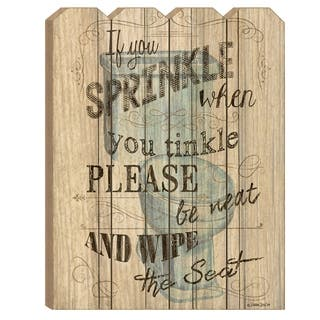 """""""If You Sprinkle"""" by Debbie DeWitt, Printed Wall Art on a Wood Picket Fence"""