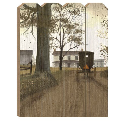 """Headin Home"" by Billy Jacobs, Printed Wall Art on a Wood Picket Fence"
