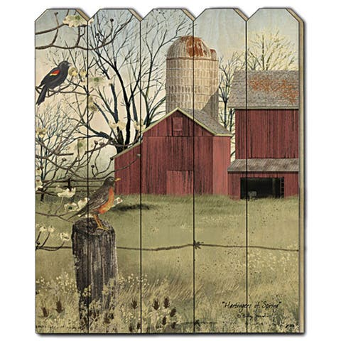 """""""Harbingers of Spring"""" by Billy Jacobs, Printed Wall Art on a Wood Picket Fence"""
