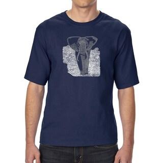 LA Pop Art Men's Tall Word Art T-shirt - ELEPHANT