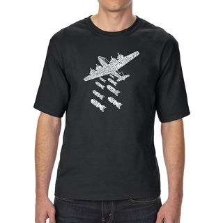 LA Pop Art Men's Tall Word Art T-shirt - DROP BEATS NOT BOMBS