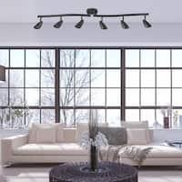 Grayson 6-Light Matte Black Track Lighting, Bulbs included