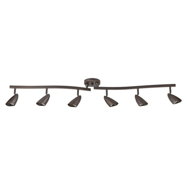 Grayson 6 Light Oil Rubbed Bronze Track Lighting Bulbs Included