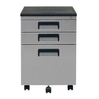 SD Office Metal Rolling File Cabinet with Locking Drawers (Option: Silver)