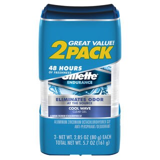 Gillette Clear Gel Cool Wave 2.85-ounce Antiperspirant & Deodorant (Pack of 2)
