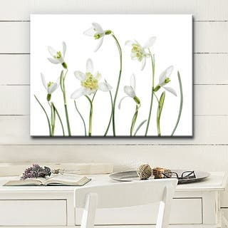 Spring Snowdrops' Floral Wrapped Canvas Wall Art