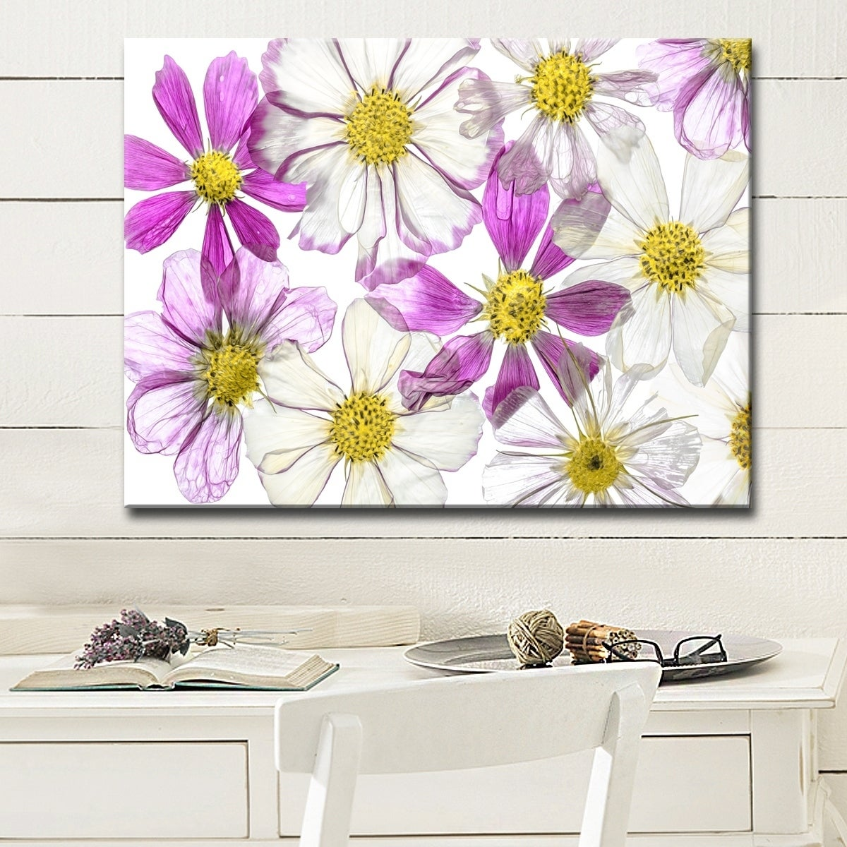 Shop Keeping Summer Floral Wrapped Canvas Wall Art On Sale